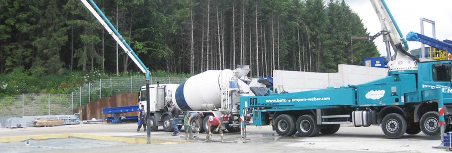 Betonanlieferung für Baustellen